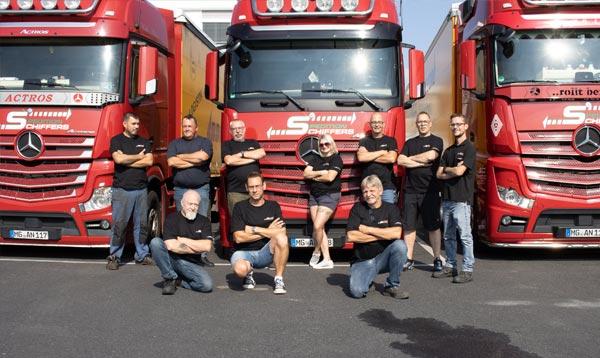 Baustellen-Logistik Spedition Schiffers Team