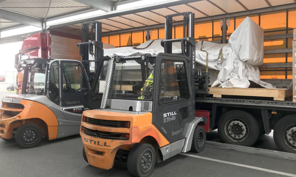 Druckmaschinen Transporte Maschinentransporte Spedition-Schiffers