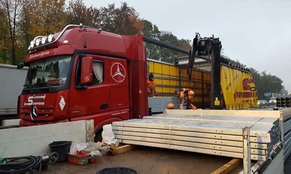 Autobahn-Baustellen Transportdienstleistung Baustellenlogistik Spedition-Schiffers in Mönchengladbach