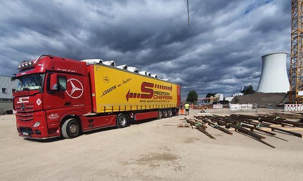 Großbaustellen-Transportdienstleistungen für die Spedition-Schiffers aus Mönchengladbach